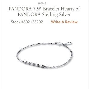 Pandora Hearts of Pandora Bracelet NEVER WORN!